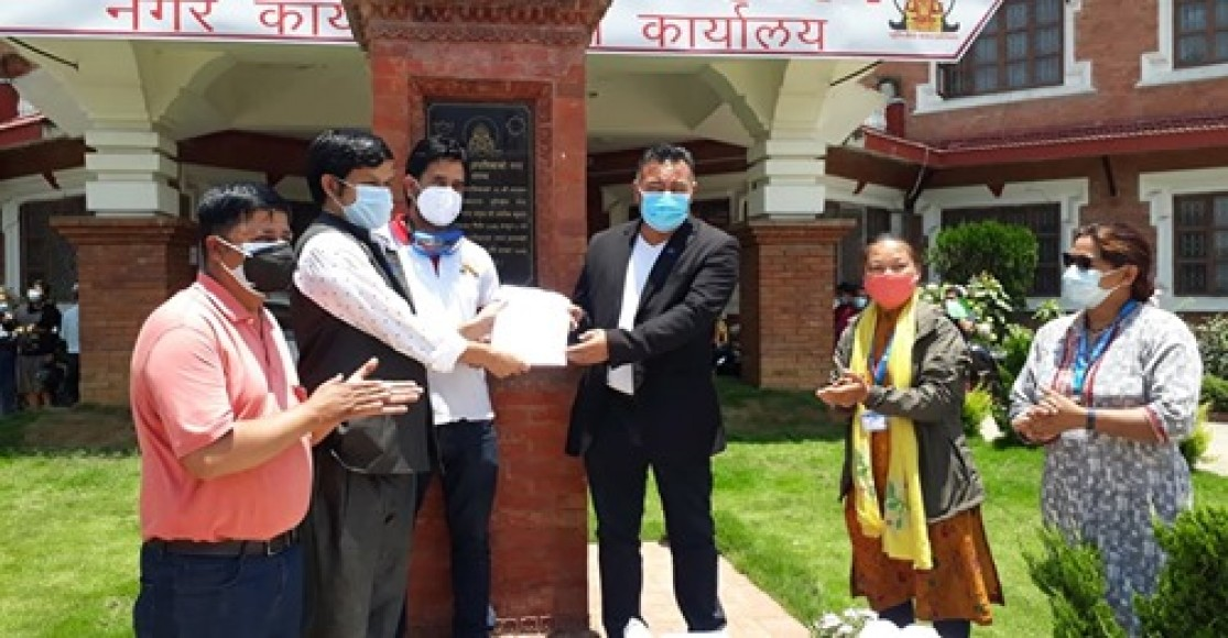 Distributed Medical Supplies in Dhulikhel of Kavre District