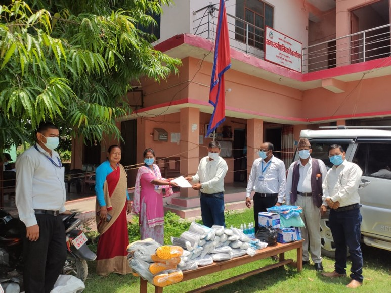NRCTC-N provided medical supplies to temporary COVID hospital