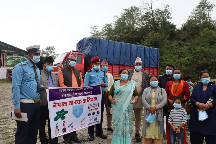 Mask campaign in Sindhupalchowk district
