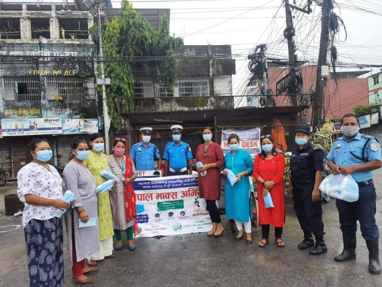 Mask campaign in Jhapa district