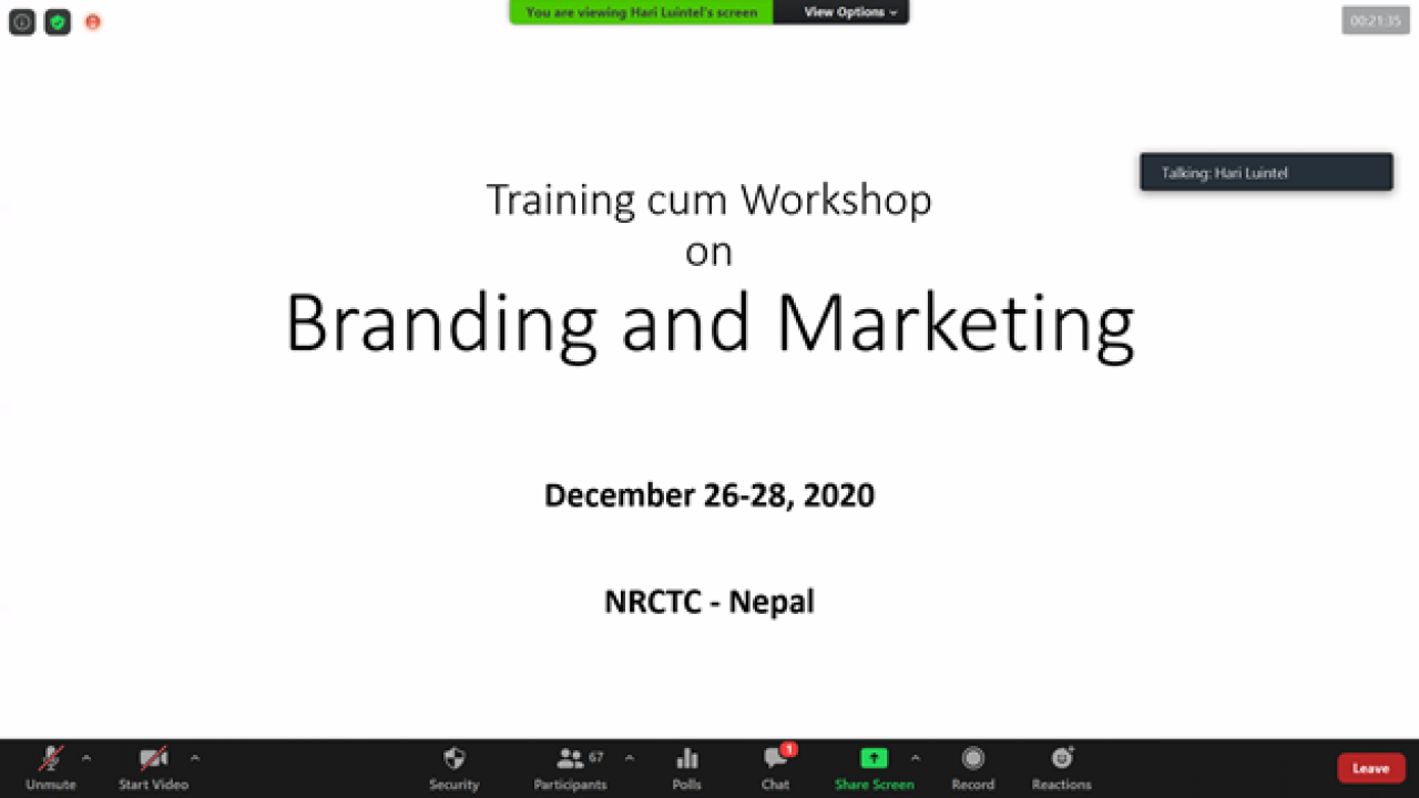 Branding and Marketing Training