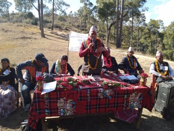 Transformed conflict between community forest