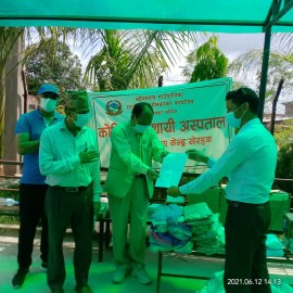 Provided Medical Supplies to Temporary COVID hospitals