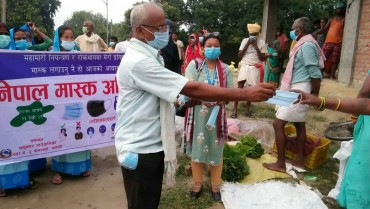 Mask campaign in Sarlahi district