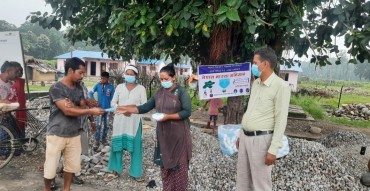 Mask campaign in Kailali district